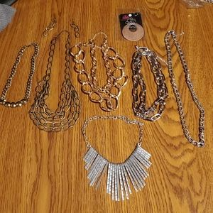 LOT 7 Paparazzi Retro 80s Chunky Necklaces Chains
